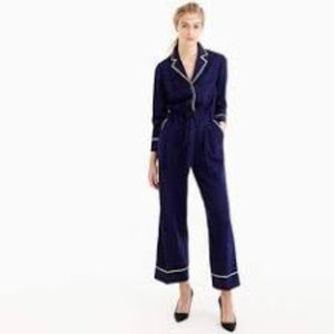 J CREW COLLECTION ~TIPPED FLANNEL JUMPSUIT ~ 0 / 2